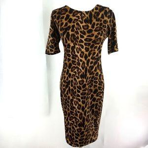 Forever 21 Animal Print Bodycon Dress sz L